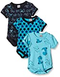 Care Baby Boys Bodysuits Shortsleeved 6er Packs and 3er Packs, 3-Pack Blue (Dark Navy 778) 0-3...