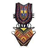 SHOBDW Womens Swimsuit, Women Sexy Bohemia African Print Bikini Set Swimwear Push-Up Padded Bra...