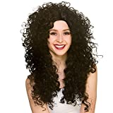 Wicked Costumes Adult Ladies Long Curly Wig - Black