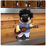 DELIFUR Pet Guitar Costume Dog Costumes Halloween Christmas Cosplay Party Funny Outfit Clothes (L)
