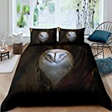 Owl Bedding Set Boho Owl Duvet Cover Set for Kids Boys Girls Boho Exotic Style Comforter Cover White...