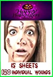 RMCtrends [Pack of 15 sheets] HD Ultra Realistic Halloween Tattoos Fancy Dress Party Costume Makeup...
