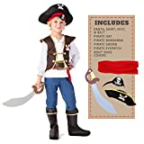 Spooktacular Creations Boys Pirate Costume Kids Fancy Dress Up Role Play Deluxe Costume Set (Medium)