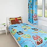 Zappi Co Pirate Design Reversible Bedding Duvet Set (Single Duvet Set)