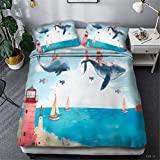 Duvet Cover Set 3D Nautical rudder sailing map compass painting Bedding Set for Nautical enthusiasts...