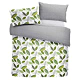 Fusion - Tazio - Easy Care Duvet Cover Set - Double Bed Size in Green