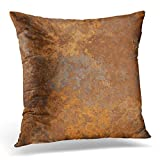 Adlington Throw Pillow Covers Brown Copper Old Rusty Metal High Resolution Orange Rustic Decorative...