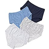 Just Essentials Women's Ladies Multipack of 4 High Waist Full Briefs Cotton Floral UK Seller -...