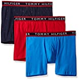 Tommy Hilfiger Men's Underwear 3 Pack Cotton Stretch Boxer Briefs, New Navy, XXL (Pack of 3)