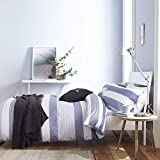 Catherine Lansfield Newquay Stripe Easy Care Double Duvet Set Blue