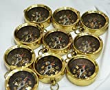 Safa Nautical Lot Of 20 PCS Vintage Camping Compass Hiking Pocket Antique Brass Navigation Nautical...