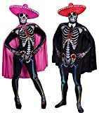 COUPLES COSTUMES - DAY OF THE DEAD COUPLES SKINSUITS HALLOWEEN FANCY DRESS - HIS & HERS HALLOWEEN...