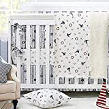 Ustide Nautical Crib Bedding Set for Baby Boy Cot Bedding Set Ocean Anchor Pattern Nursery Crib...