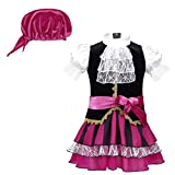 TiaoBug Infant Baby Girls Classic Pirate Captain Dress Up Costume for Halloween Cosplay Party with...