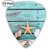 Pretty Turquoise Blue Nautical Classic Guitar Picks 12 Pack for Electric Guitar, Acoustic Guitar,...