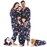 HORSE SECRET Family Pajamas Matching Sets, Drop Seat Onesie Hooded Zip Up Flannel One Piece Pajama...