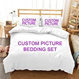 SUNHAON Personalised Photo Duvet Covers Bedding Set, Personalised Photo Double Bedding Duvet Set...
