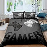 Loussiesd Games Duvet Cover Set for Boys Kids Cartoon Video Game Gamepad Comforter Cover Child Youth...