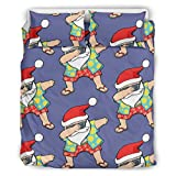 djfrnuki Swag Santa Claus Wrinkle and Fade Resistant Bedding 3-Piece Bed Sheets Set Easy Fit for...