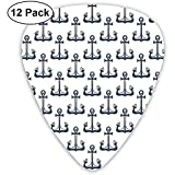 Dark Colored Vintage Marine Ship Anchor Heraldic Sea Pattern (12 Pack)