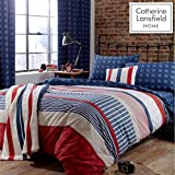 Catherine Lansfield Stars and Stripes Easy Care Single Duvet Set Multi