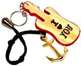BRASS SHIP ANCHOR KEY CHAINS-NAUTICAL GIFT & WOODEN KEYCHAIN