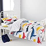 Textile Warehouse Whales Blue White Grey Nautical Chevron Boys Girls Kids Childrens Duvet Quilt...