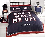 Bedding Heaven® Don't Wake Me Up Duvet Cover. Fully Reversible. Perfect Teenage Bedding Set. Blue...