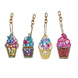 Jestang DIY Diamond Painting Keychains, Special Shaped Diamond Painting Ornaments for Kids and Adult...