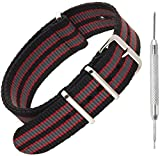 Nylon NATO Watch Strap by Sniper Bay® Straps | Military Style Divers Bands | 18mm 20mm 22mm 24mm...