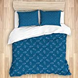 Ttrsudddsyy Duvet Cover Sets Bed Sheets,Abstract Nautical Pattern with Hand Draw,3 Piece Bedding Set...