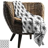 ZSUO Weighted blanket for kids 30'x50' Inch Compass,Black and White Sketch Style Windrose...