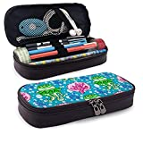 XCNGG Nautical ImageLeather Pencil case, Waterproof, Fashionable and Durable, can be Used for...