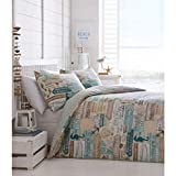 Portfolio Driftwood Quilt Duvet Cover Reversible Bed Set, Multi, Double