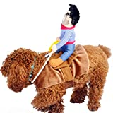 Ueetek Pet Costume Dog Costume Clothes Pet Outfit Suit Cowboy Rider Style Fits Dogs Weight Under...