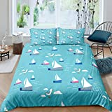 Loussiesd Nursery Bedding Set Single Size For Toddler Boys Kids Child,Nautical Theme Comforter...