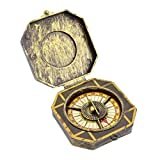 Robelli Caribbean Pirate Golden Compass Fancy Dress Costume Prop Accessory
