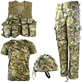 Kombat UK Kid's BTP No1 Army Combo Set, British Terrain Pattern, 9-10 Years