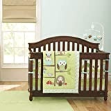 USTIDE Cot Bedding Set Owls Crib Bedding Sets for Girls Birds Family Nursery Bedding Sets Crib...