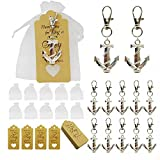 Aotoer 50Pcs Anchor Keychain Party Favor Wedding Favors for Guests, Creative Souvenirs Gifts with...