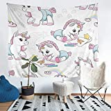 Unicorn Baby Tapestry Magical Animal Pattern Tapestries Wall Hanging for Kids Girls Fantasy Unicorn...