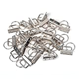 CRIVERS 30PC Key Fob Hardware and Wristlet Sets with Key Rings (1.25 inch wide)
