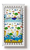 Duvet Cover + Pillowcase 100 cm x 135 cm Bedding Set Sea Animals to fit cot Bed 70x140 cm (100x135...