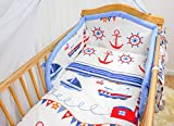 5 Piece Nursery Baby Bedding Set with Quilt and Padded Bumper fits 120x60 cm Cot (16)