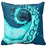 Men Women Pillowcase Pillows Cover Cases Navy and Aqua Nautical Octopus Tentacle Decorative for 18'...