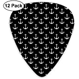 12 Pack Guitar Picks Plectrums Anchor Pattern Celluloid Guitar Pick Set For Acoustic Electric Guitar...