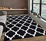 A2Z Rug|Trendy 5309 Geometric Moroccan Black White Pattern|Setting Room Kitchen Entry Area Rug|Soft...