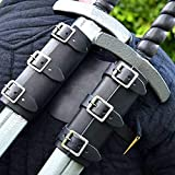 Adjustable Medieval Double Sword Frog Back Belt for Viking Pirate LARP Costume Prop Cosplay...