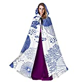 JEOLVP Sea Colorful Coral Marine Creature Adult Mens Cloak Girls Hooded Cloak 59inch For Christmas...