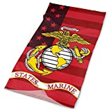 Sports Scarf Tube Stretchy Seamless Wrap Face-Masks Marine Corps And US Flag Headwear Head Outdoor...